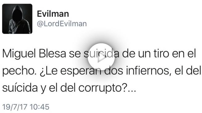 Fallece Miguel Blesa y a los pocos minutos Twitter se pasa de la raya: «Un 'hijoputa' menos»