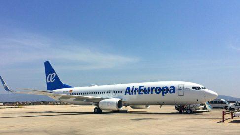 Uno de los aviones de la flota de Air Europa.