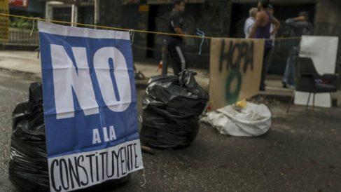 Calles vacías en Venezuela durante la jornada electoral a la Asamblea Constituyente de Maduro.