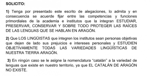 Lambán recibe más de mil alegaciones contra la promoción del catalán en Aragón