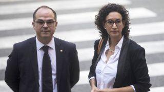 Jordi Turull y Marta Rovira. (Foto: EFE)