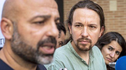 Pablo Iglesias con José García Molina. (Foto: EFE)