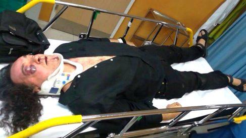 Fernando Barredo en la camilla del hospital Virgen de la Salud de Toledo.