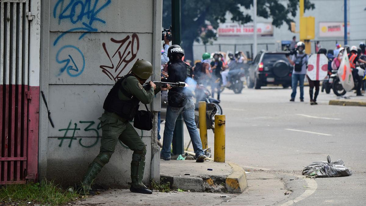 Represión en Venezuela (Foto: AFP)
