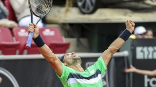 David Ferrer celebra el triunfo en Bastad. (AFP)