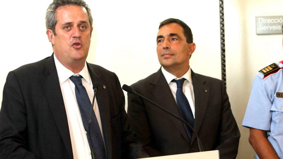 Joaquim Forn junto a Pere Soler. (Foto: EFE)