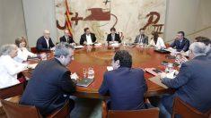 Reunión del Govern antes de ser destituido (Foto: Efe).
