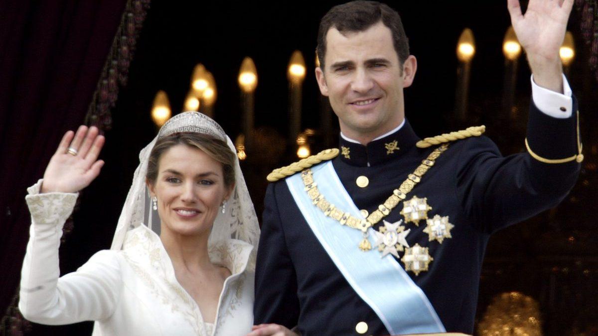 Los Príncipes de Asturias el día de su boda en 2004 (Foto. Getty)