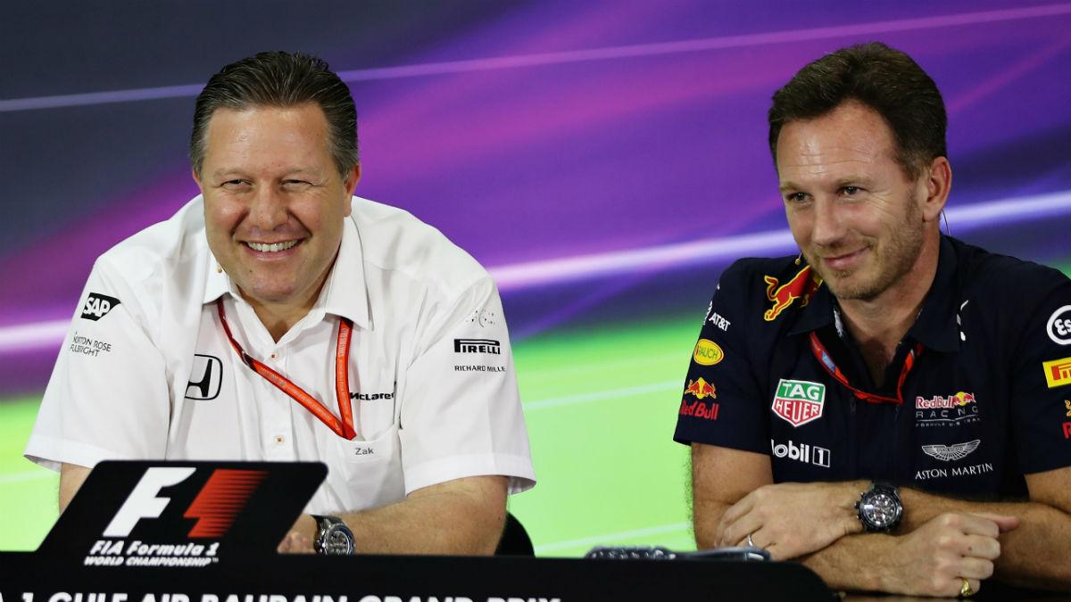 Christian Horner ha reconocido que no espera que McLaren abandone a Honda para irse con Mercedes, ya que sería volver a una situación que ya conocen del pasado. (Getty)