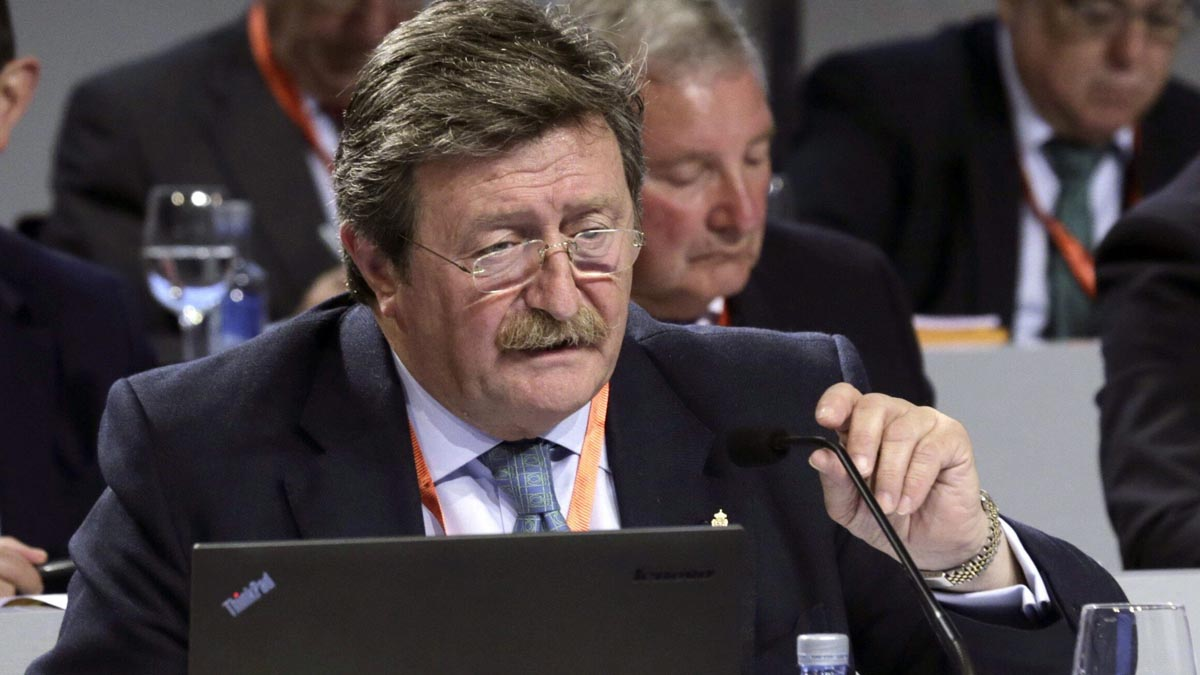 Juan Luis Larrea, nuevo presidente de la Federación Española de Fútbol. Foto: EFE