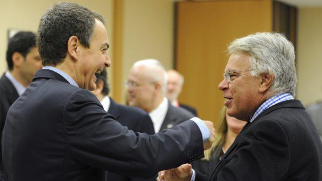 José Luis Rodríguez Zapatero y Felipe González