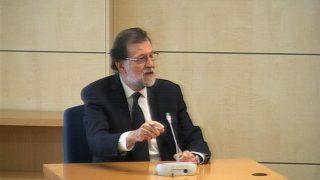 El presidente Mariano Rajoy durante su comparecencia. Foto: EFE