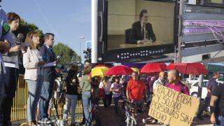 Fotografías de la declaración de Mariano Rajoy en la Audiencia Nacional. (Fotos: Enrique Falcón)