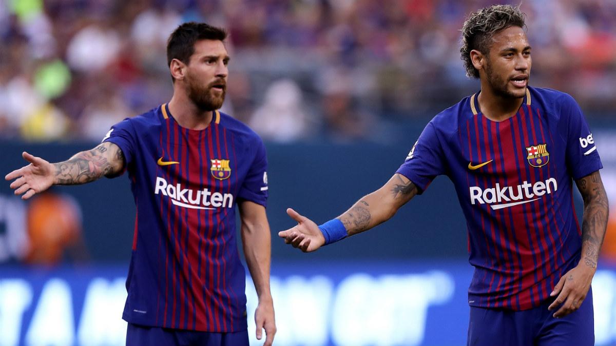 Neymar junto a Messi en el duelo ante la Juve. (AFP)