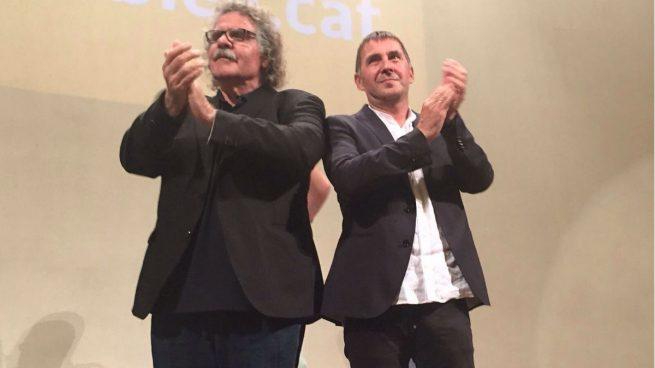 Otegi y Tardà antes del acto (Imagen: Súmate)