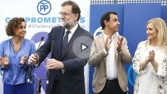 El Presidente Mariano Rajoy en un acto contra la violencia de género en Madrid tras declarar en el caso Gürtel (Foto:EFE)