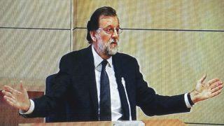 El presidente Mariano Rajoy durante su declaración como testigo en el juicio del caso Gürtel (Foto: EFE)