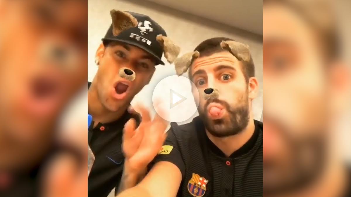 Neymar y Piqué.