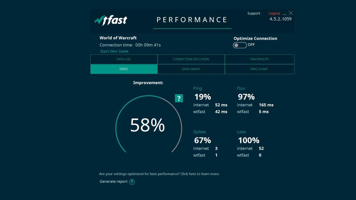 WTFast mejora notablemente el rendimiento en juegos
