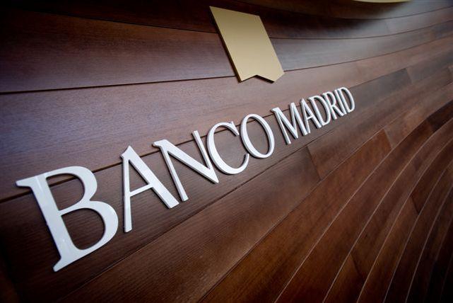Rótulo de una de las sucursales del Banco Madrid, filial de la BPA.