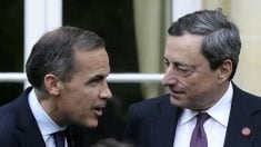 Mario Draghi y Mark Carney (Foto: GETTY).