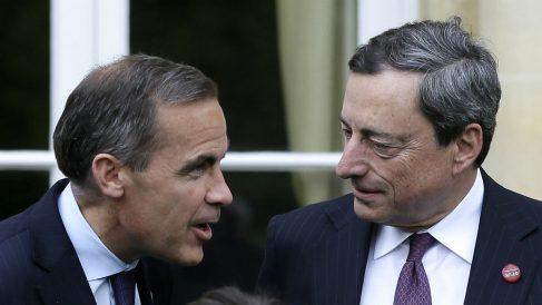 Mario Draghi y Mark Carney (Foto: GETTY).