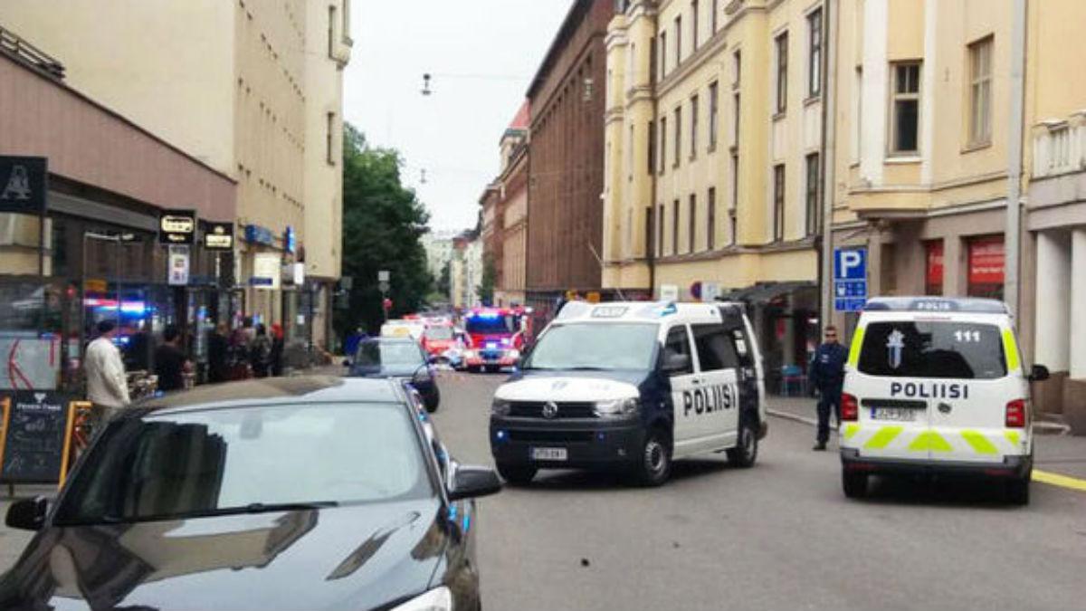 Zona acordonada en Helsinki