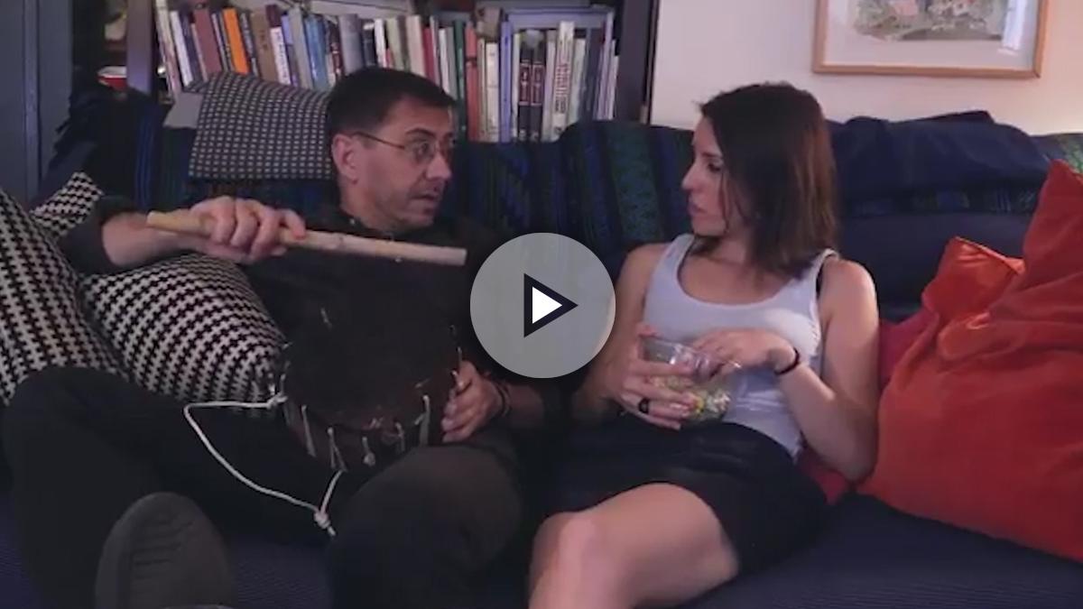 Montero y Monedero en el vídeo