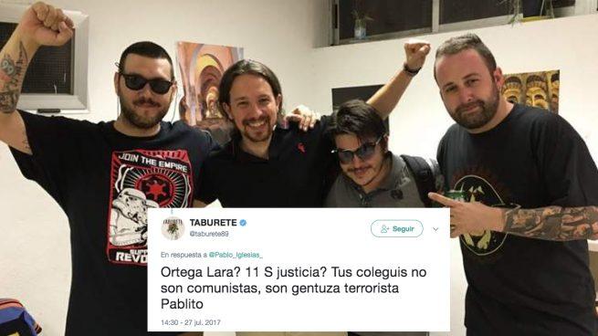 Pablo Iglesias con Los Chikos del Maíz