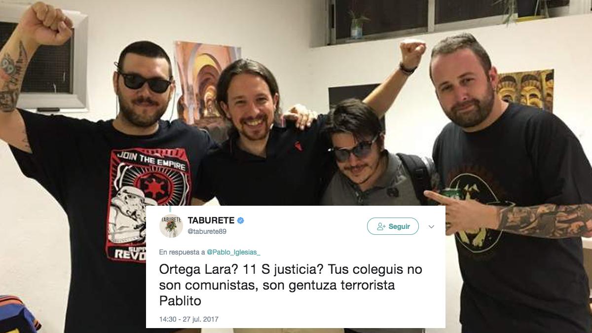 Pablo Iglesias con Los Chikos del Maíz. (Foto: Twitter)