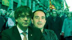 El presidente Carles Puigdemont y el número 2 de su Oficina del Cambio Climático, Gabriel Borràs.