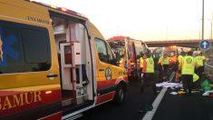 Asistencias sanitarias en un accidente (Foto: InfoEmergencias).