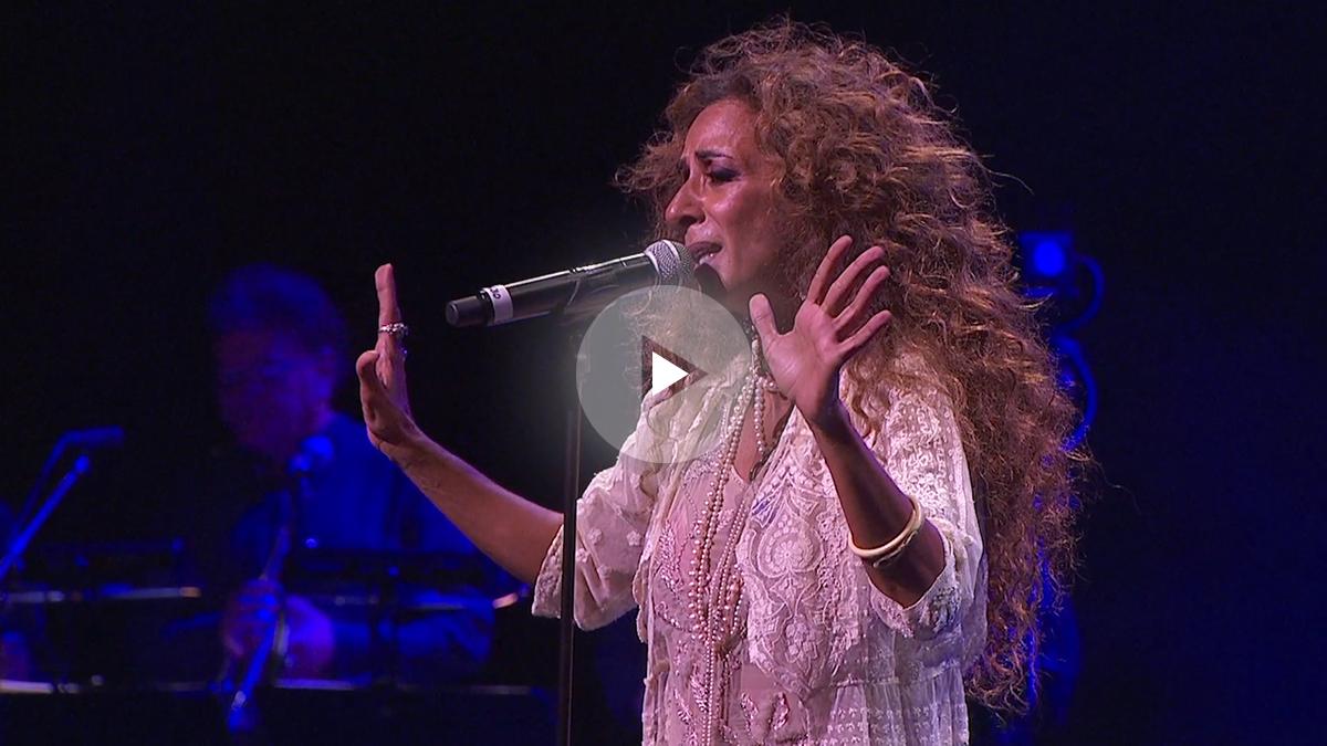 Rosario Flores durante su concierto en el Teatro Real de Madrid.