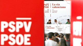 Imagen de la segunda jornada del congreso del PSOE valenciano (Foto: Efe).
