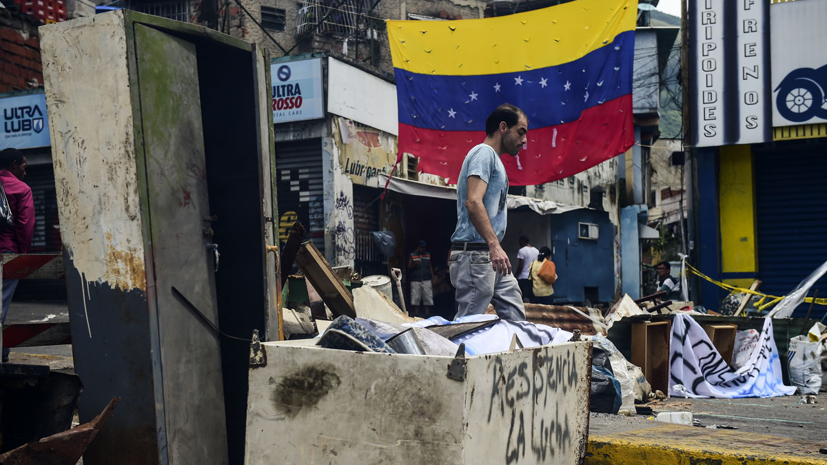 Barricadas en Venezuela (Foto: AFP)