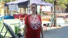 Lidia vive en la calle junto a su marido y sus cuatro hijos desde hace 42 días.
