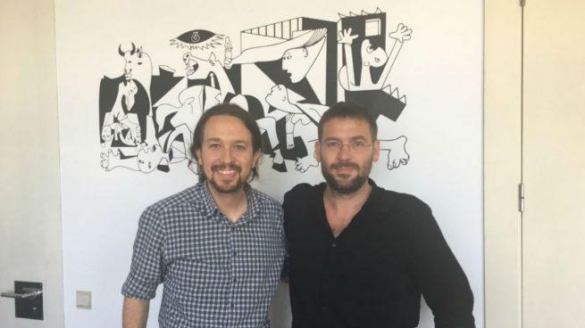 Pablo Iglesias con Albano-Dante Fachin.