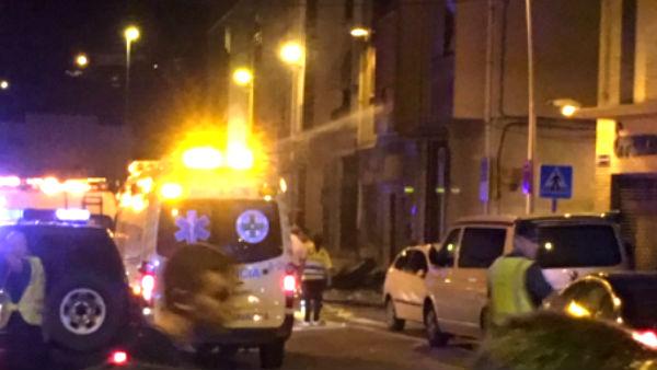Calle en la que se produjo la explosión.