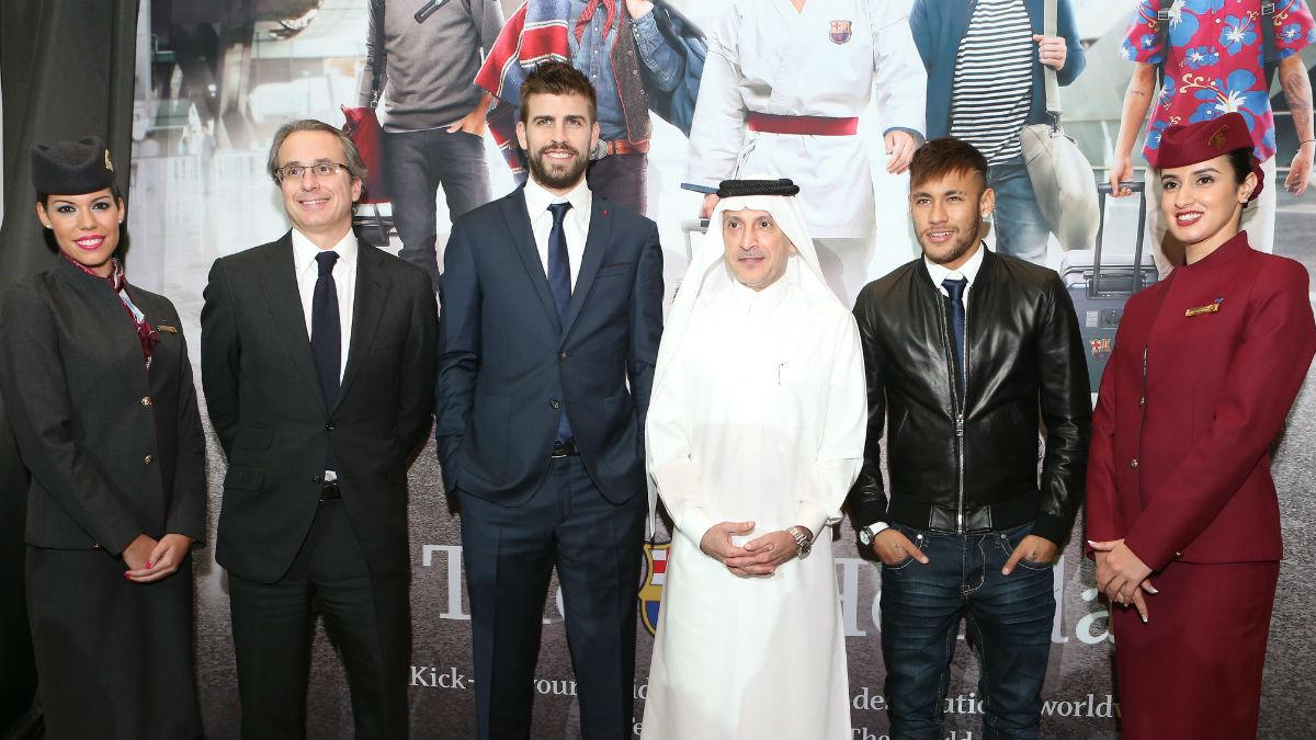 Neymar y Piqué fueron a Qatar de actos publicitarios la temporada pasada.
