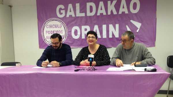 Podemos en Galdácano apoya junto al PNV y los proetarras de Bildu la reagrupación de presos de ETA