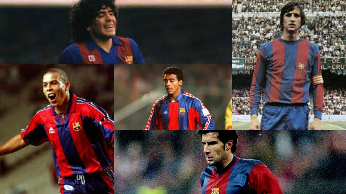 Antes que Neymar ya se fueron otros cracks como Ronaldo, Maradona, Romario, Cruyff y Figo.