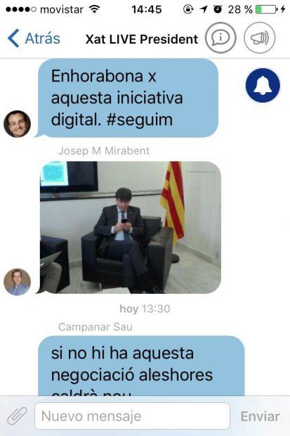 """Puigdemont no desmiente a OKDIARIO sobre las urnas: """"Las habrá, lo importante es que se llenen"""""""