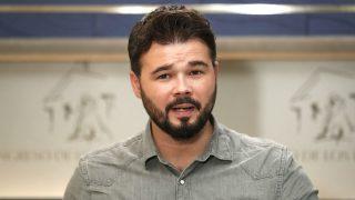 El portavoz adjunto de ERC, Gabriel Rufián (Foto: Efe)