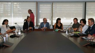 Reunión entre comité de empresa y directivos de Eulen con AENA en Barcelona