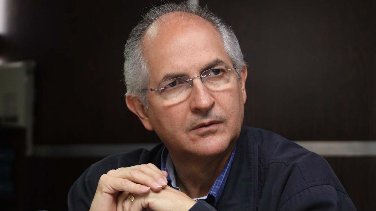 Antonio Ledezma, alcalde de Caracas en Venezuela opositor al régimen de Maduro.