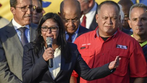 Delcy Rodríguez. (Foto: AFP)