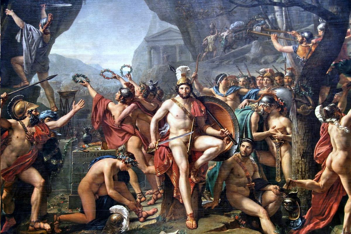 'Leónidas en las Termópilas', por Jacques-Louis David.