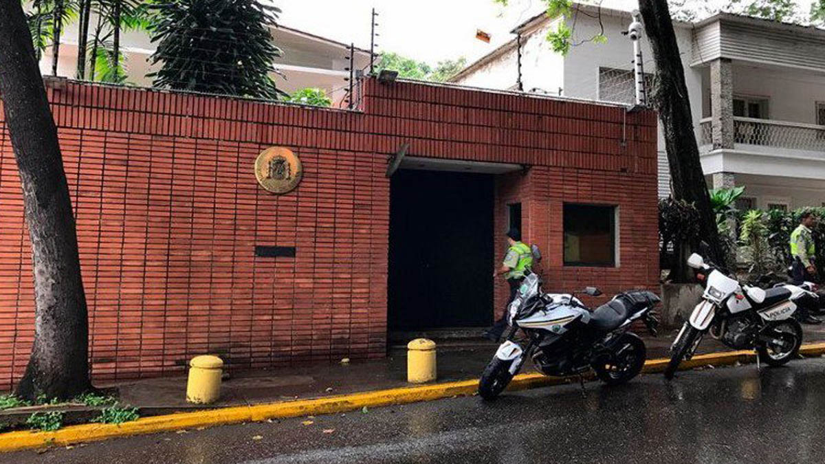 Embajada de España en Caracas.
