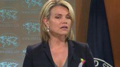 Heather Dauert, la portavoz del Departamento de Estado de los EEUU