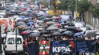 Manifestación proetarra en Galdácano (Foto: EFE)